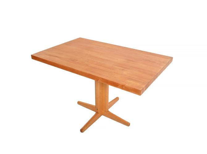 Maple Butcher Block Table Mid Century Modern by HearthsideHome