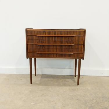 Vintage Danish Modern Rosewood Low Chest by FarOutFindsNY