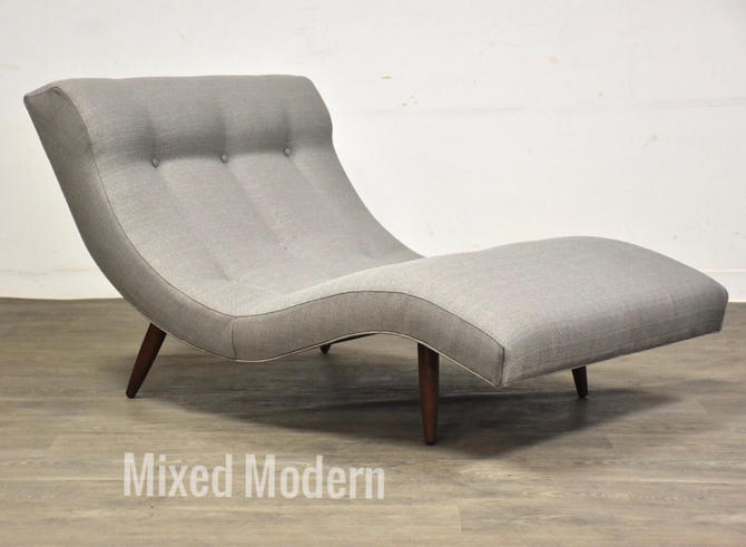 """Grey """"Wave"""" Chaise Lounge Chair by Adrian Pearsall by mixedmodern1"""