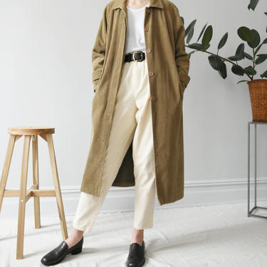 vintage corduroy duster coat, size S by ImprovGoods