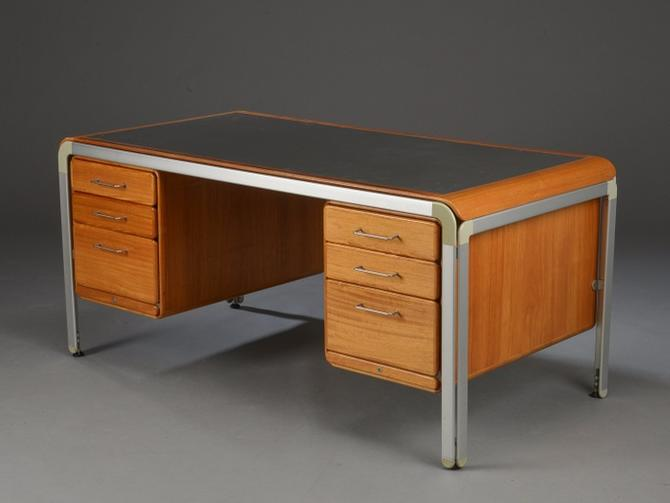 Custom Desk by Arne Jacobsen for Fritz Hansen for the Danish National Bank