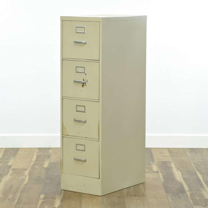 White Metal Industrial Tall File Cabinet