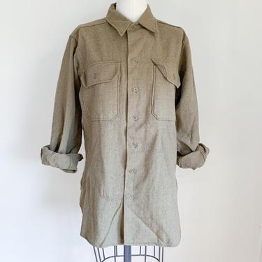Vintage 1970s Army Wool Flannel / M by MsTips