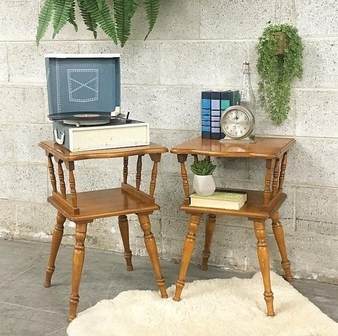 LOCAL PICKUP ONLY -------------- Vintage End Tables by RetrospectVintage215