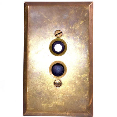Antique Push Button Light Switch w/ Brass Cover