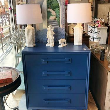 Navy Art Deco Chest of Drawers