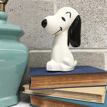 Vintage Piggy Bank Retro 1980s Snoopy + Comic Strip + Peanuts + Beagle +  Ceramic + Savings Jar + Money Storage or Bank + Home Decor by RetrospectVintage215