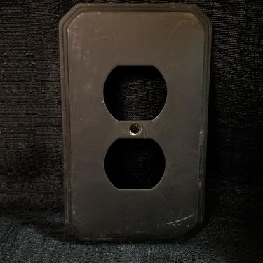 Heavy Brass Outlet Cover 3.25 x 5.125