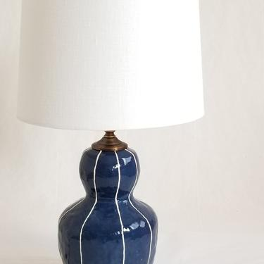 Small ceramic lamp. Bedside table lighting  or office update by krikriceramics