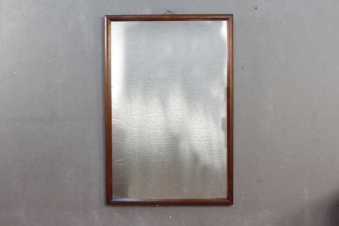 Carolina Mid Century Large Walnut Mirror