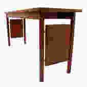 Erwin-Lambeth MCM Walnut Designer Console/Sofa Table