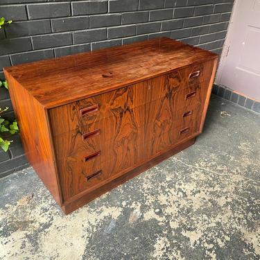 1960s Rosewood Low Dresser Vintage Mid-Century Danish Modern - Dealer Special - Restoration Candidate by BrainWashington