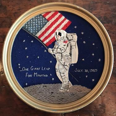 Cross Stitch Lunar Landing