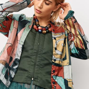 Magaschoni Vintage Olive Vest, Size 12