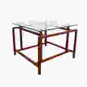 Henning Norgaard for Komfort Side Table Teak and Glass side table by HearthsideHome