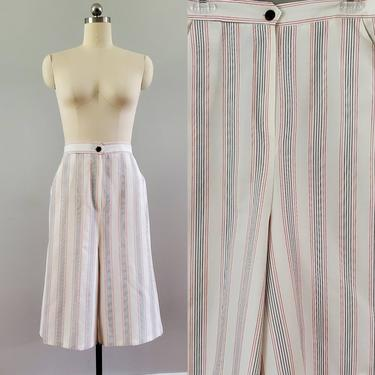 1970s High Waist Culottes 70s Shorts 70's Women's Vintage Size by HeySailorNiceVintage