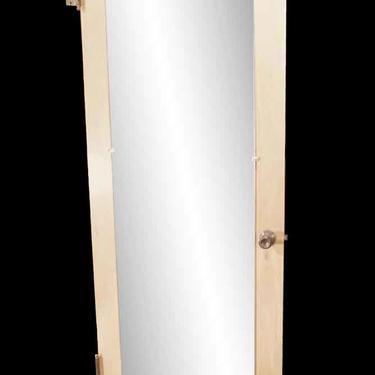 Vintage Mirror Pane Maple Closet Door 79.375 x 30