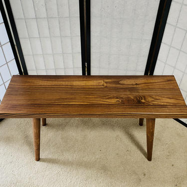 Mid Century Bench for Desk or Keyboard Stand by OrWaDesigns