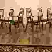 Koefoeds Hornslet Eva Teak Dining Chairs, Set of 6