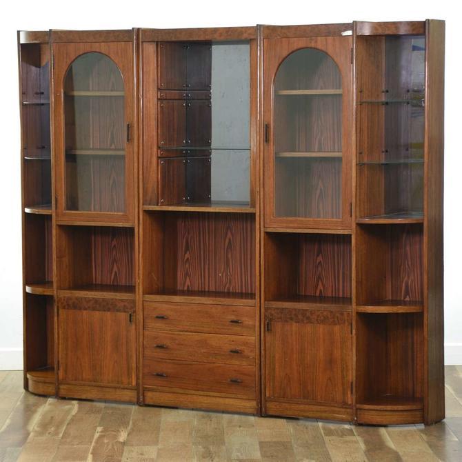 Mid Century Modern Cabinet Hutch 3pc Unit