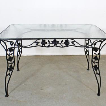 Vintage Wrought Iron Meadowcraft Dogwood Iron Outdoor Patio Dining Table by AnnexMarketplace