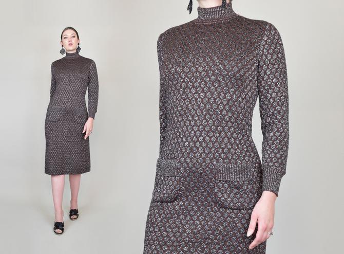 1960's Lurex Knit Sweaterdress | Kimberly Knit Dress by WisdomVintage