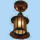 Copper Arts and Crafts Exterior Lantern