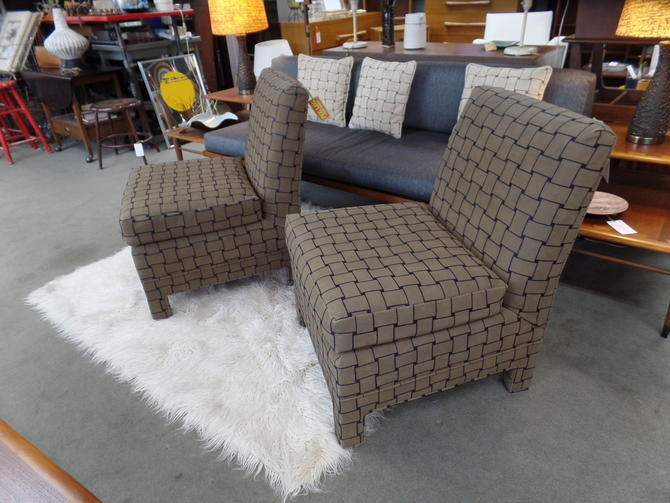 Suede Slipper Chairs