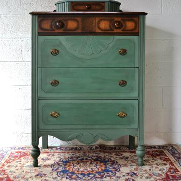Green Antique Dresser