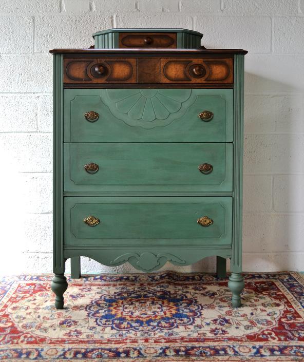 Green Antique Dresser