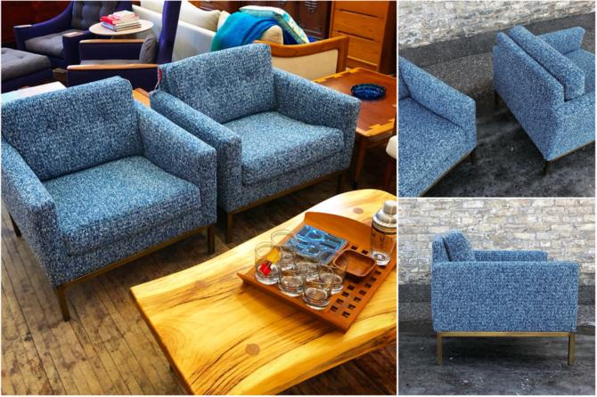 Knoll Style Cube Club Chairs