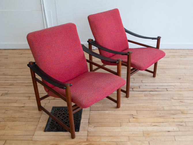 Pair of Erik Buch Safari Chairs