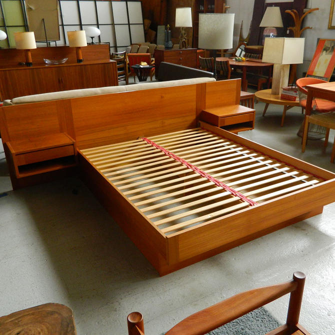 Danish Teak Queen Platform Bed