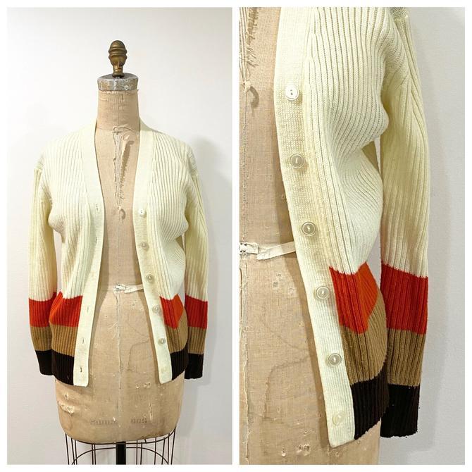 70s striped cardigan by harlowandspring