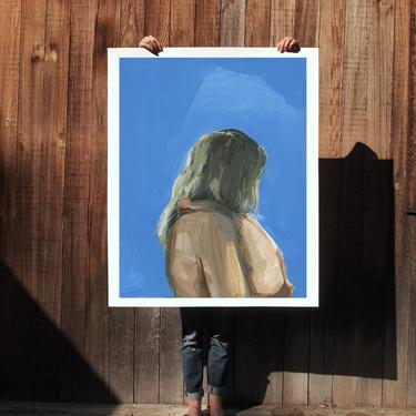 Sweetest .  extra large wall art . giclee print by ClareElsaesser