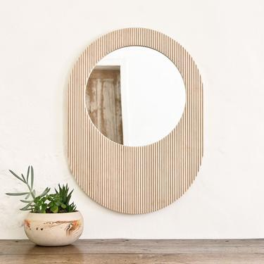 Fluted Mirror - Round by wrenandcooper