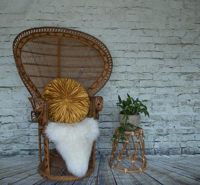 SHIPPING NOT FREE! Vintage Emmanuelle Wicker Peacock Chair by WorldofWicker