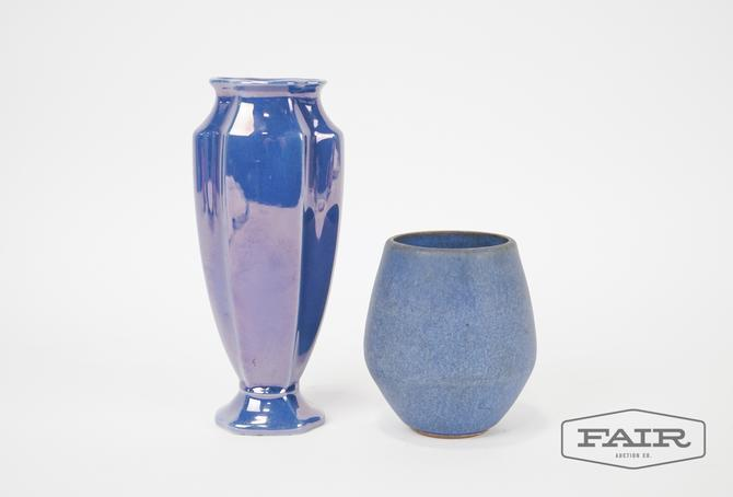 Two Blue Pottery Vases