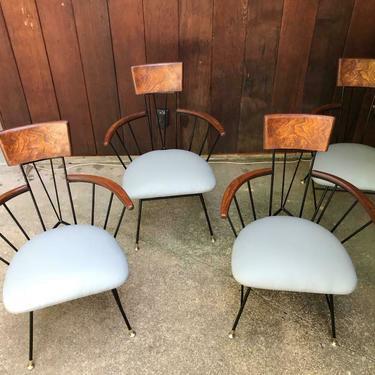Vintage Mid Century Richard McCarthy/Selrite  4 Chairs Retro!