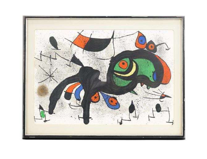 Joan Miro Untitled Lithograph Print