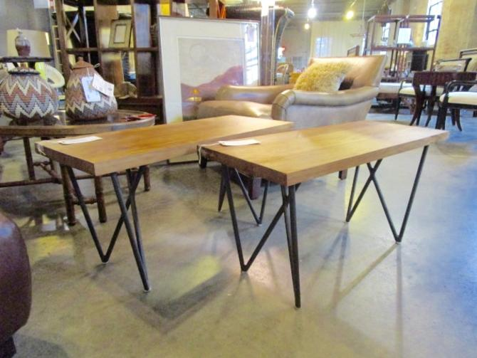 PAIR OF CB2 DYLON BENCH/TABLE PRICED SEPARATELY