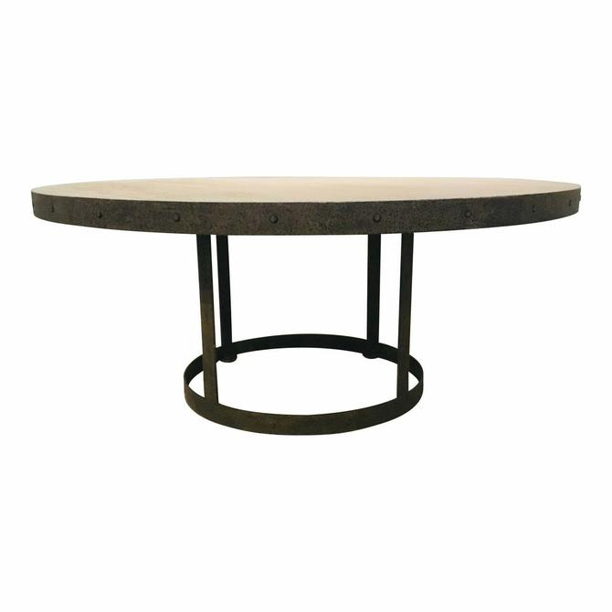 Lillian August Industrial Modern Reclaimed Wood and Metal Grant Dining Table