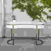 Sleek White & Gold Desk