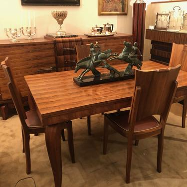 Lelu Style French Art Deco Dining Room Suite Buffet, Table 6 Chairs