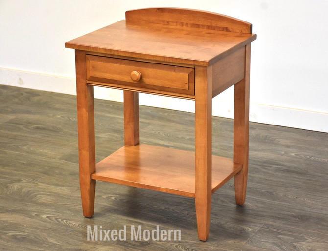 Ethan Allen Solid Maple Nightstand by mixedmodern1