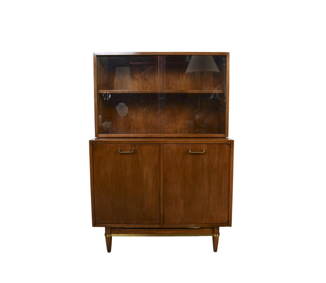 Walnut Hutch Credenza Server American of Martinsville Dania Line Designed by Merton Gershun by HearthsideHome