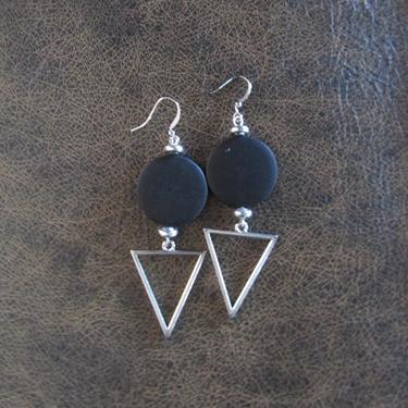 Large black earrings, Geometric earrings, African Afrocentric earrings, bold statement earrings chunky earrings, unique Art Deco by Afrocasian