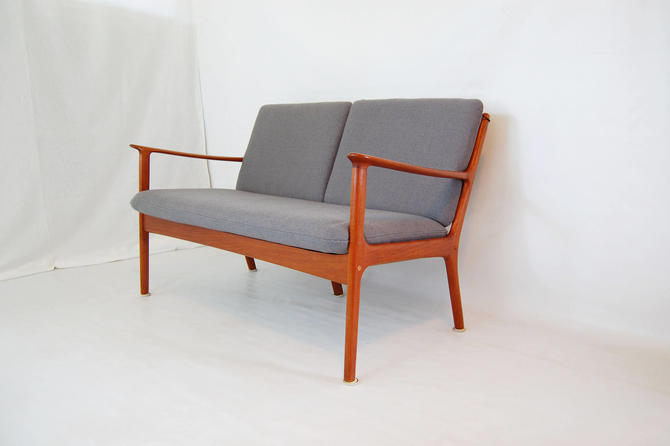 Danish Modern Ole Wanscher Model PJ-112 Teak Settee for Poul Jeppesen Made in Denmark by MidCentury55