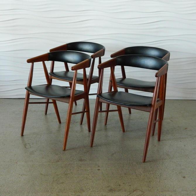 HA-C7970 Set of Four Danish Teak Dining Chairs