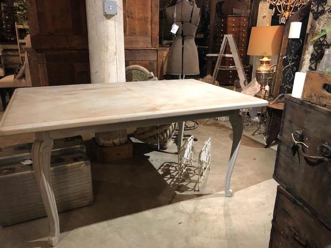 Dove Gray Vintage Dining Table